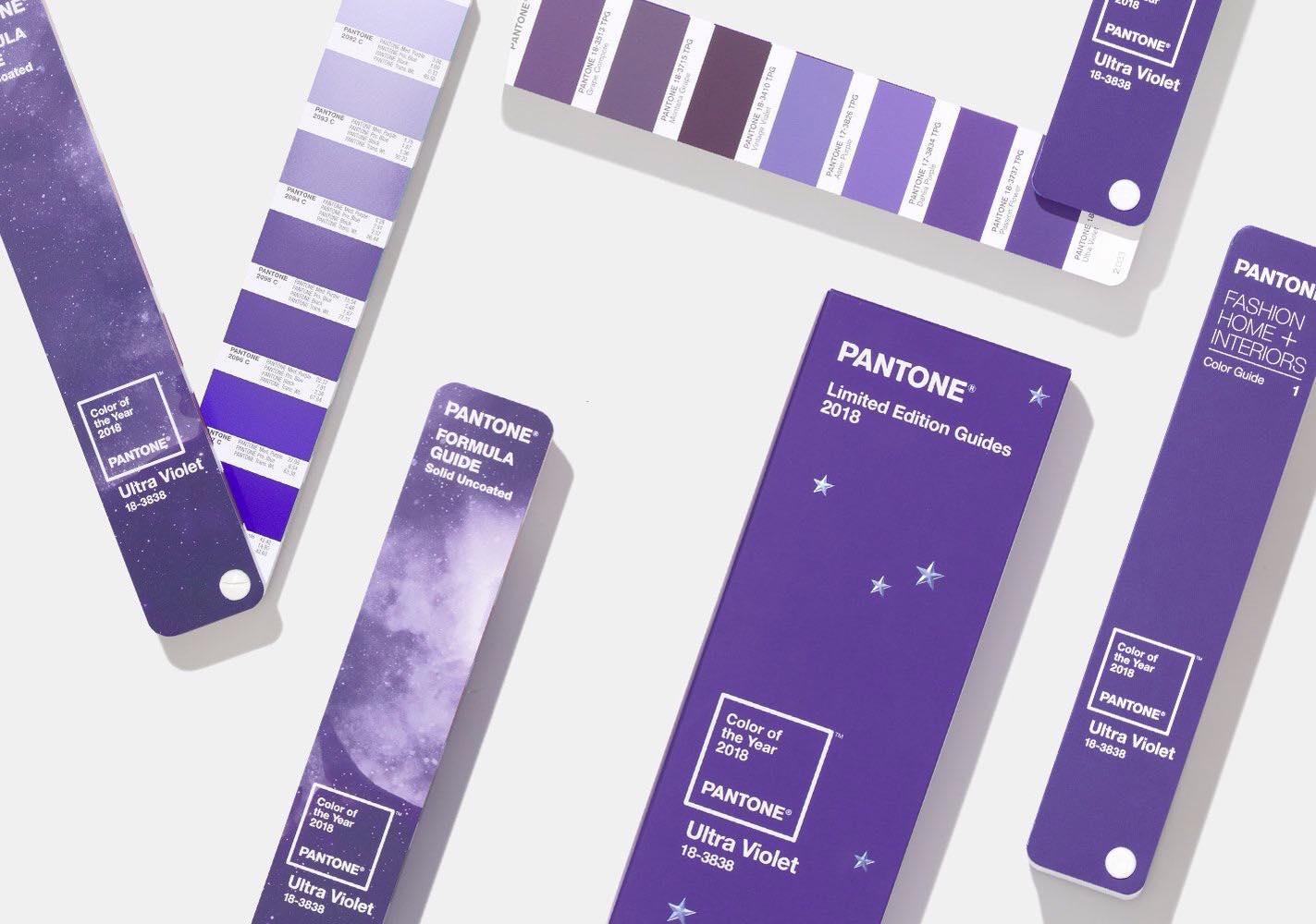 شركة Pantone 2018 5 اللون البنفسجي لون العام بحسب بانتون