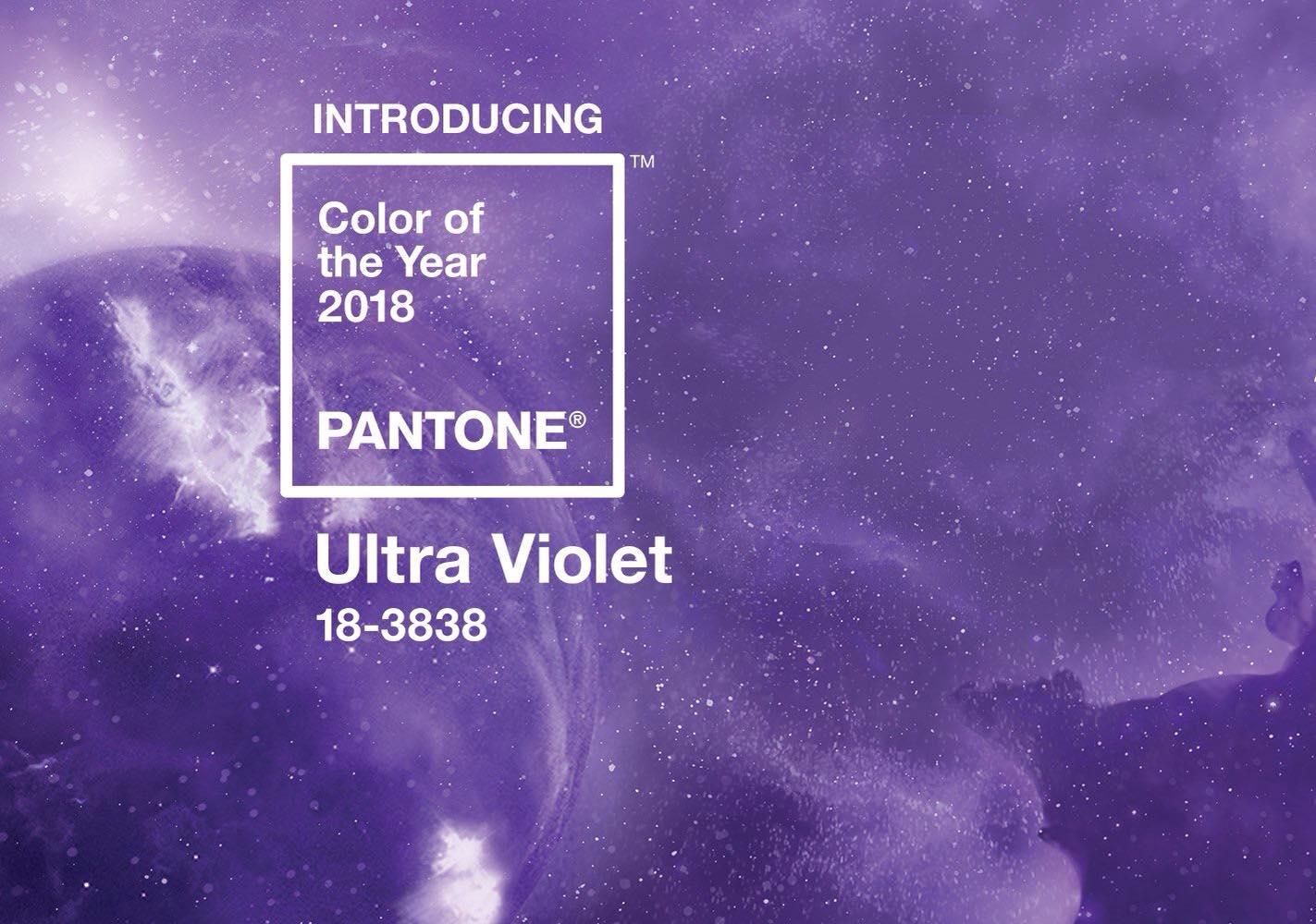 شركة Pantone 2018 6 اللون البنفسجي لون العام بحسب بانتون