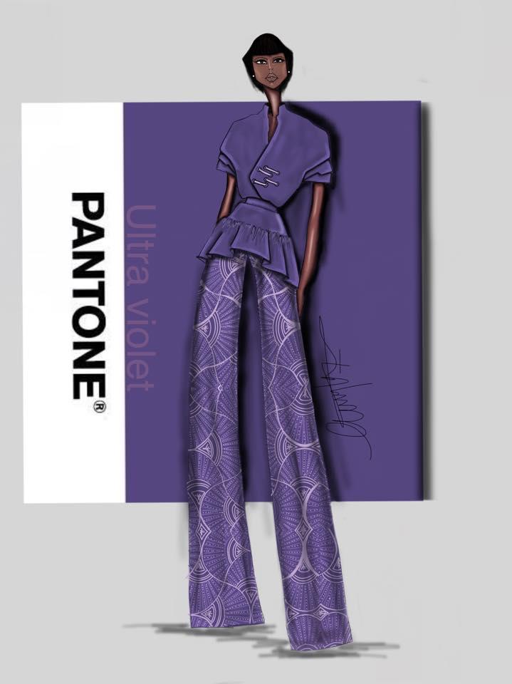 شركة Pantone 2018 8 اللون البنفسجي لون العام بحسب بانتون