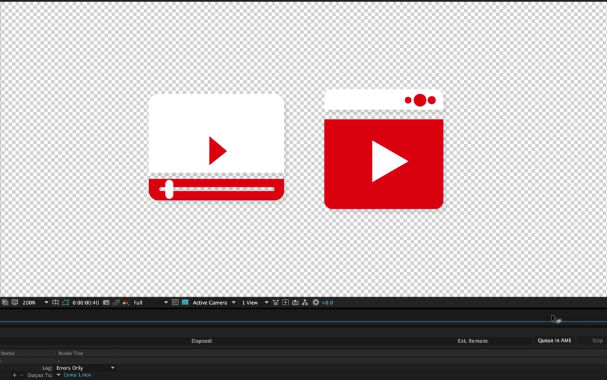 تصدير فيديو بدون خلفيه من افترافيكت تصدير فيديو بدون خلفيه في افترافيكت