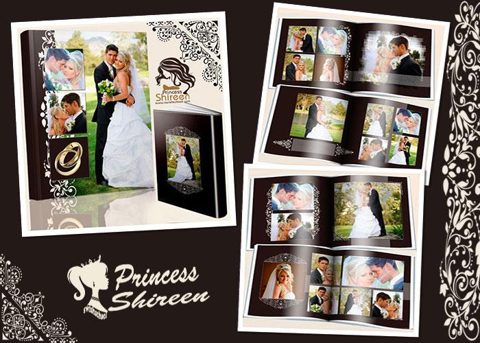 ألبوم كلاسيكى لصور الزفاف psd للتعديل عليه عالى الجودة لأصحاب الاستوديوهات مدرسة جرافيك مان