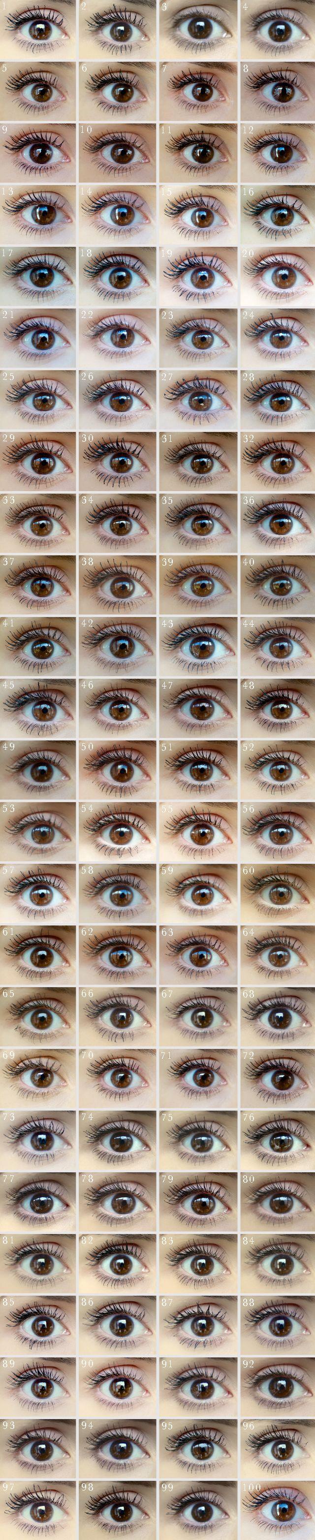 100 شكل مختلف للماسكرا لنفس العين