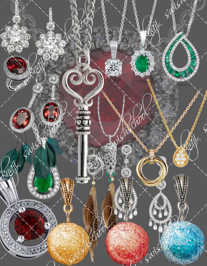 سكرابز مجوهرات ذهب وفضه متنوعه باجمل الاشكال والالوان