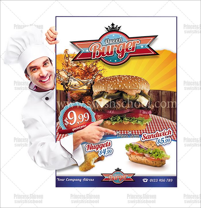 موك اب عرض فلاير مطعم مع شيف تصميمPrincess Shireen  مدرسة جرافيك مان (63)