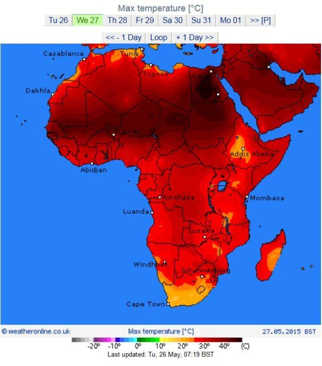 بالصور : مصر تسجل اعلى درجه حرارة في العالم