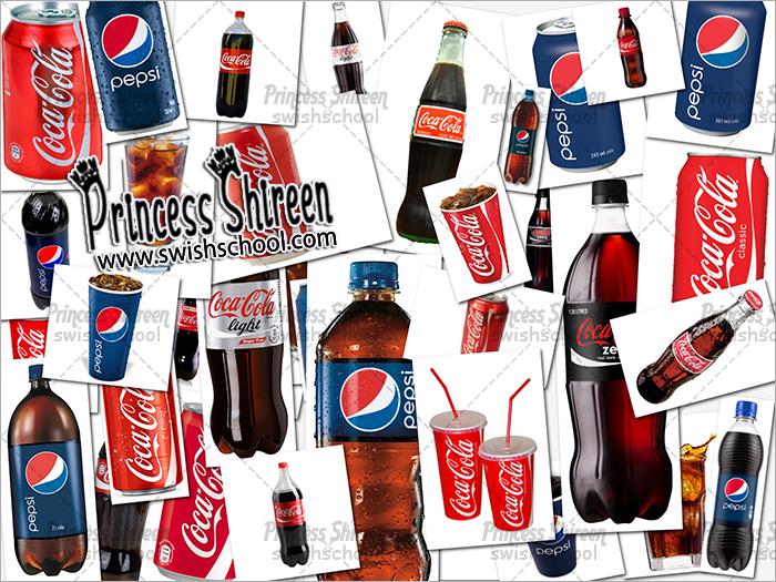 كولكشن سكرابز مشروبات غازية بدون خلفية , 40 صورة زجاجات بيبسى وكوكاكولا png