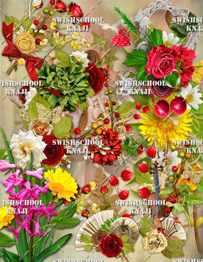 اجمل الازهار والورود  بشكل بوكيه جوده عاليه دون خلفيه 2015