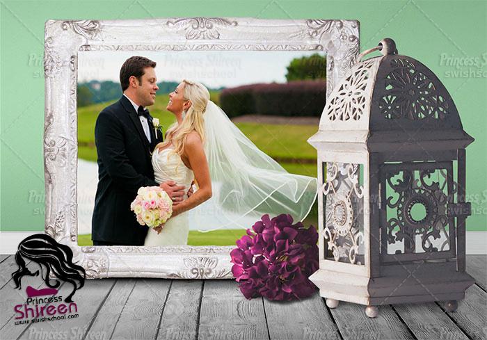 2 موك أب رومانسى لعرض صور الزفاف psd mockup