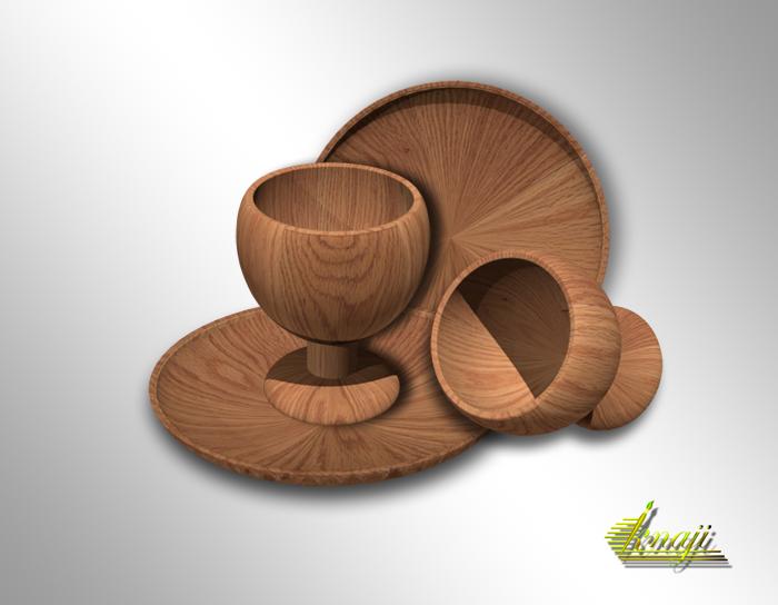 سلسلة دروس 3D فوتوشوب cs5 (  شرح فيديو لعمل كوب وصحن خشبي  )
