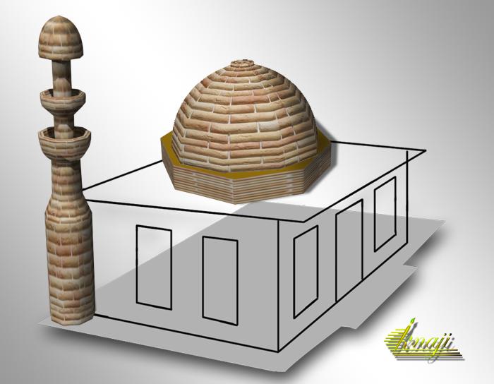 سلسلة دروس 3D فوتوشوب cs5 (  شرح فيديو لعمل ماذنه وقبة مسجد )