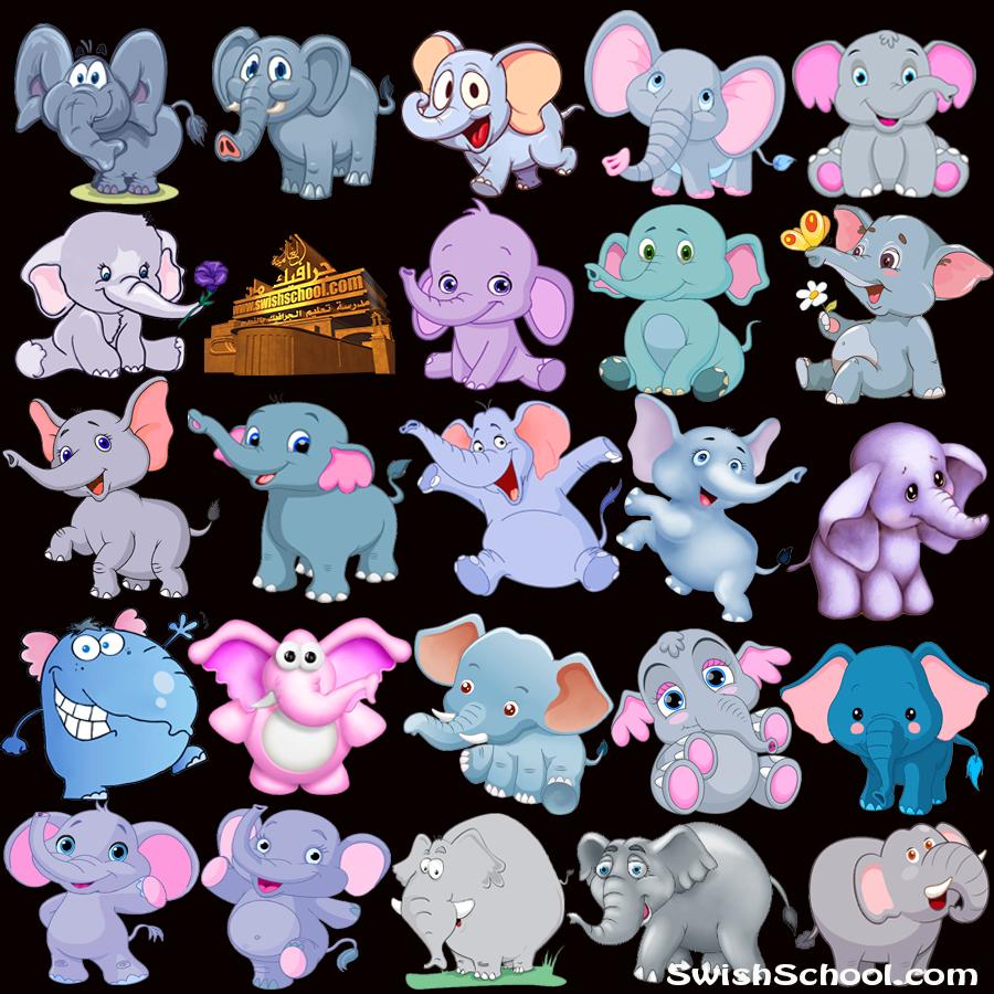 مجموعة فيله كارتونيه png