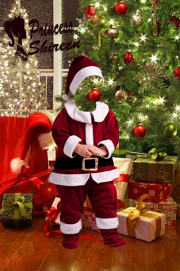 قالب تركيب وجه طفل بابا نويل psd للتعديل عليهم عالى الجودة لاصحاب الاستوديوهات مدرسة جرافيك مان (1)