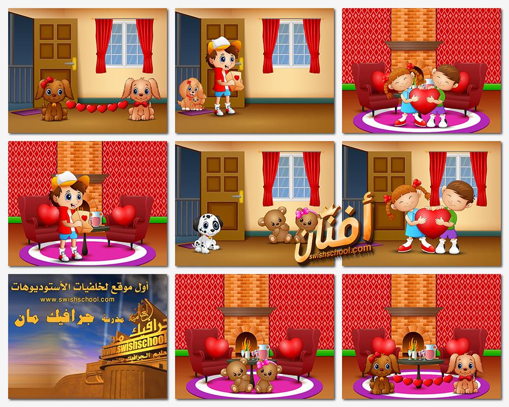 خلفيات فيكتور رسومات كيوت لتصاميم الاطفال eps