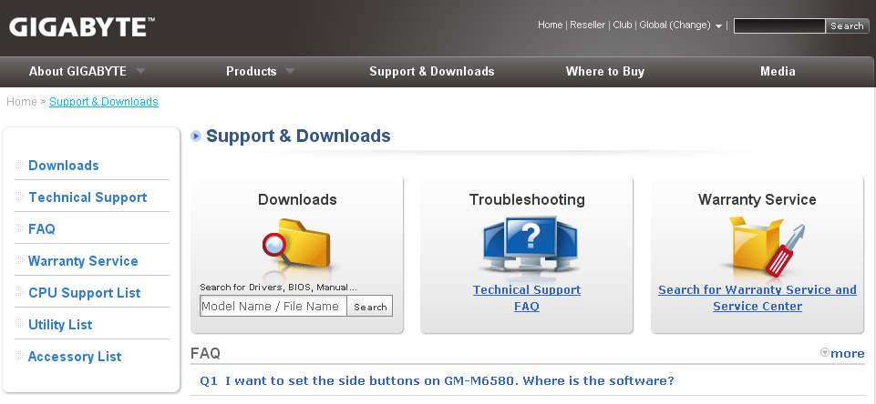 موقع تحميل تعريفات مازر بورد جيجابايت gigabyte