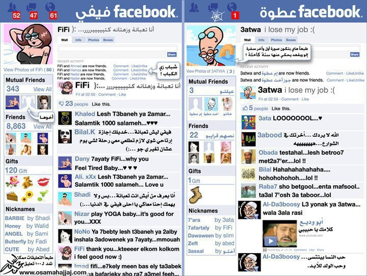 ماهو الفرق بين الولد والبنت على الفيس بوك