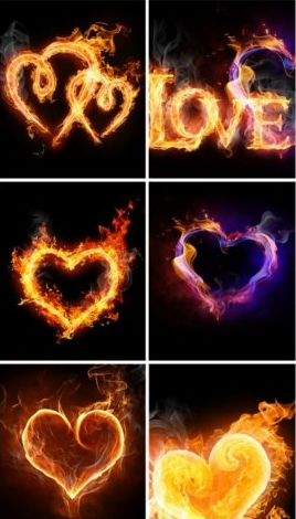 صور خلفيات قلب قلوب من نار على شكل ناري بجوده عاليه ستوك فوتو Stock Photos
