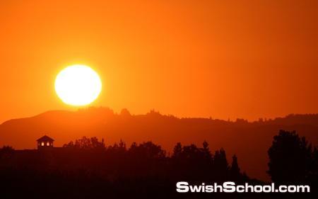 خلفيات وقت غروب الشمس - صور خيول عند الغروب - 2013