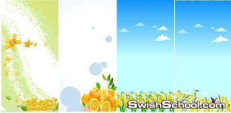 بنرات ازهار ورود حدائق ملفات مفتوحه للفوتوشوب 24 floral banners - PSD