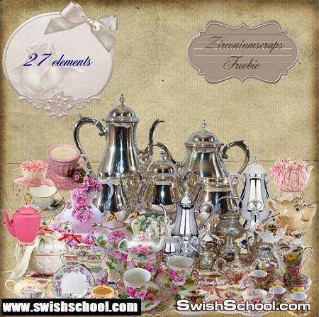 صور مقصوصه ابريق و برادات شاي Clipart - Kettles