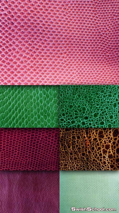 خامات جلد التمساح ملونه   Leather Crocodile