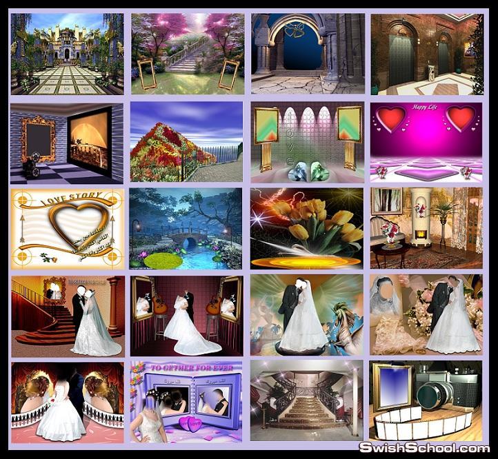 خلفيات psd عرايس  Wedding Background