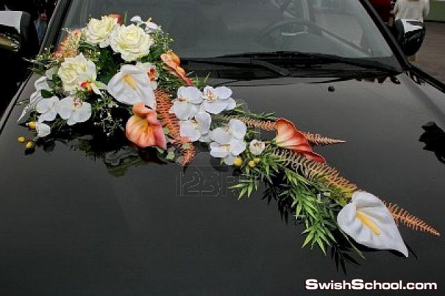 ديكورات تزيين سيارات الزفاف