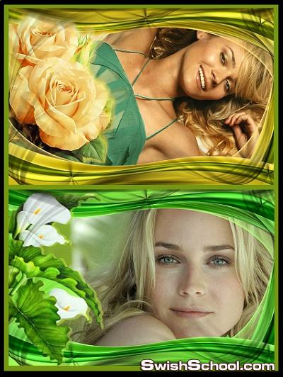 فريمات الزهور للبنات فقط  albums Flowers PSD