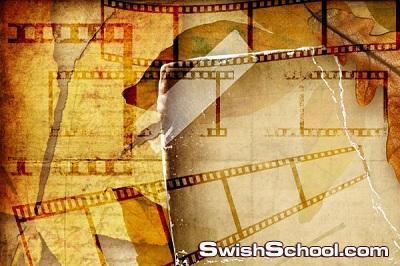 فرش شريط السينما النادره جرافيك تصميم ابداع film strips brushes