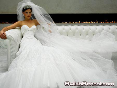 كولكشن فساتين زفاف بتصاميم ملكيه راقيه
