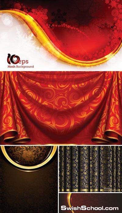 ستائر فيكتور   Curtain vector eps