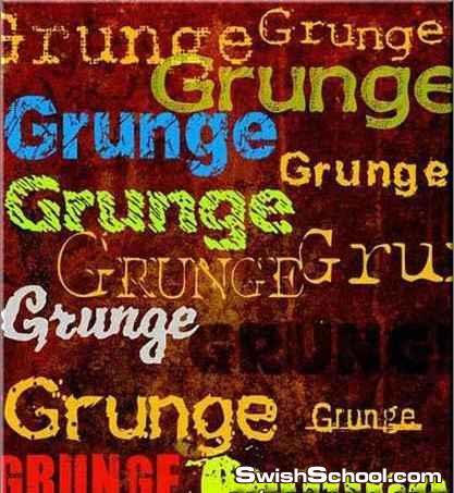 Grunge Fonts  خطوط للتصاميم العتيقه