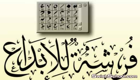 كيفيه تصميم شعار باستخدام الخط الديواني وفرش التشكيل لمحاكاة شعار قناة الجزيره