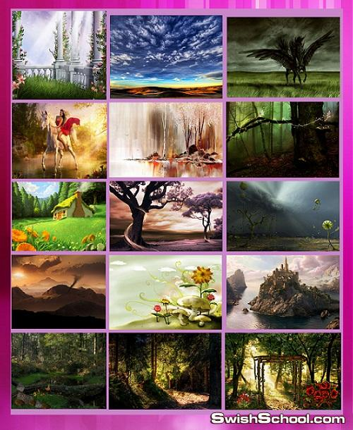 خلفيات الغابه و الاكواخ الخياليه Fairy Magic cottages