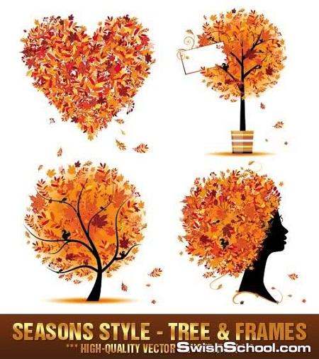 خلفيات الخريف فيكتور eps