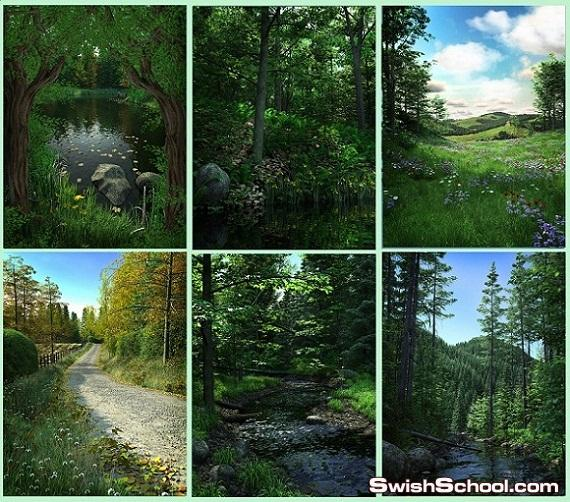 خلفيات المروج الخضراء الجميله عاليه الجوده للتصميم Beautiful Meadows