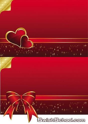 مجموعه كبيره من القلوب والرومانسيات  بصيغه فيكتور  Romantic Vector Background