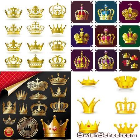 كولكشن تيجان ملكيه بصيغه فيكتور Crowns Vector Collection