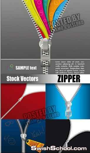 5 ملفات فيكتور لتصاميم zipper او سوسته الجزء الثاني