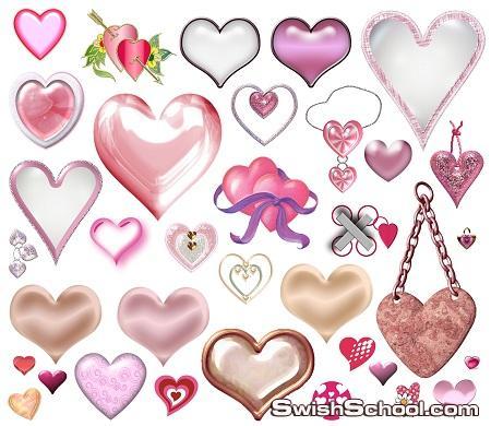 قلوب رومانسيه  بصيغه png ,psd للمغرمين والعشاق Collections Hearts  الجزء الثاني