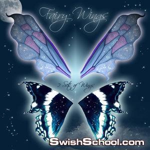 صور مقصوصه لاجنحه ملائكيه خياليه بخلفيه شفافه   Fairy Wings PSD