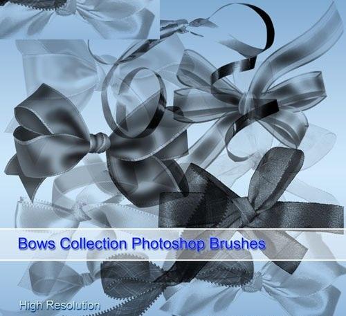 فرش فيونكات للفتوشوب Bows PSD and Brushes 2012