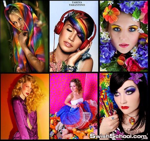 صور بنات في الوان 132 صوره جديده للتصميم Colorful girls 2012