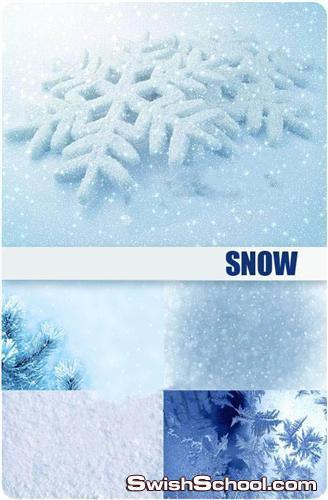 صور ثلج جليد Snow and snowflakes - backgrounds