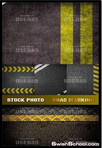 خامات اكشن وطرق سريعه و Road Marking