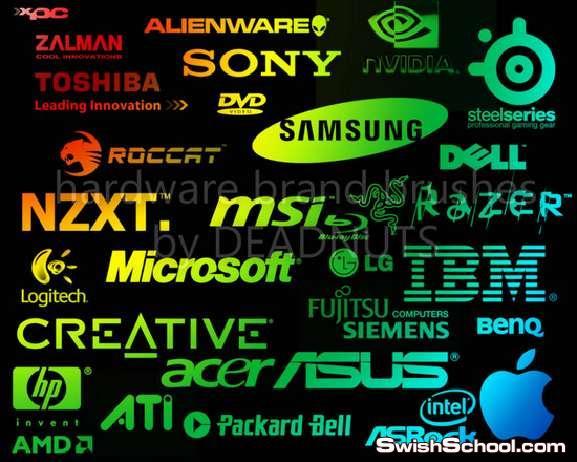 فرش فوتوشوب ماركات اجهزه الكترونيه وحواسيب