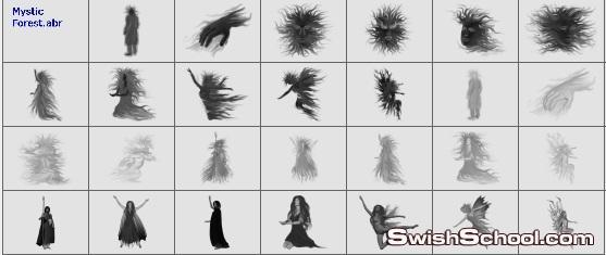 فرش الغابه السحريه فرش خياليه للفوتوشوب 2012