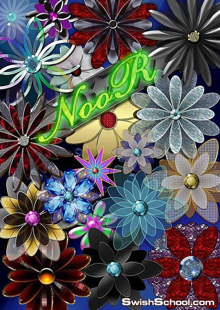زهور ديكور بخلفيه شفافه  Decorative flowerses