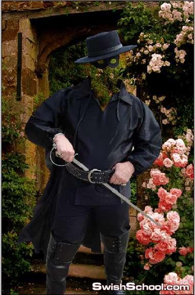 قالب تركيب الوجه شخصيه فانتازيا مع ادوات المحارب