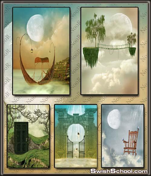 خلفيات فانتازيا طبيعه خياليه للاستديوهات والتصميم