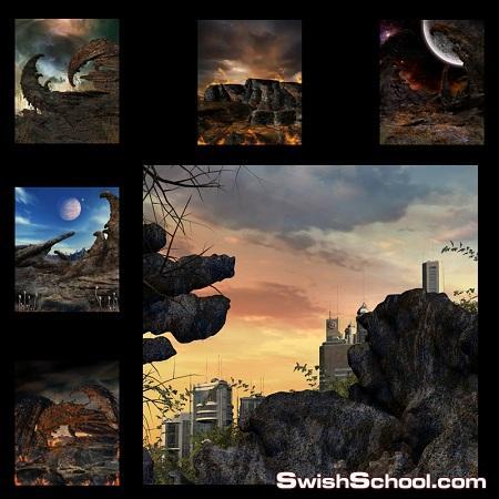 خلفيات جوثك بالوان الظلام الساحر 2012 Magic dark backgrounds